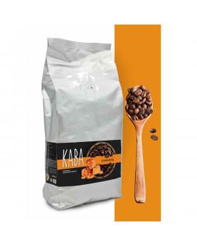 """Кофе в зернах ароматизированный """"Карамель"""" – баланс кислинки, горчинки и сладости"""