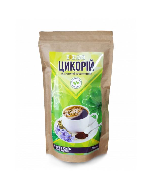 Цикорій розчинний порошкоподібний (200 г): насичений, тонізуючий напій без кофеїну