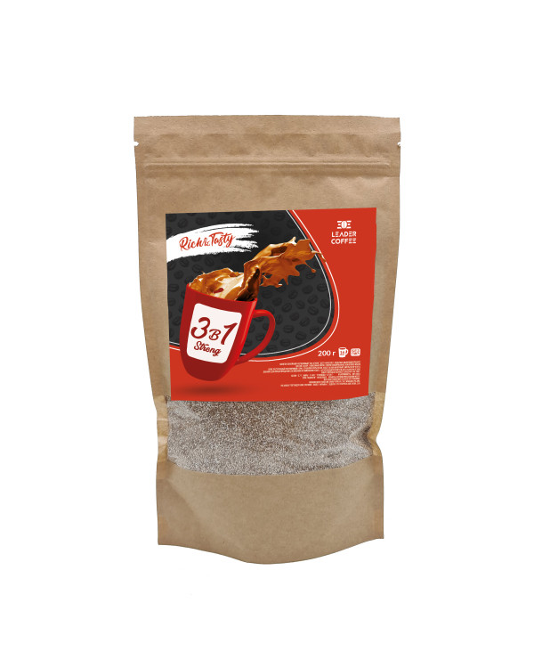 Кава TM Leadercoffee 3в1 Strong, 200г