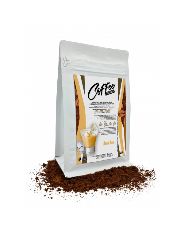 """Кава натуральна мелена з ароматом """"Айріш крем"""", 250г"""