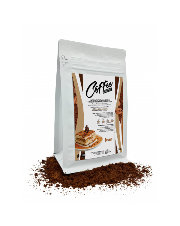 """Кава натуральна мелена з ароматом """"Тірамісу"""", 250г"""