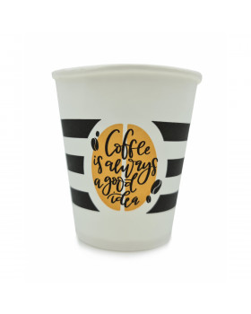 "Стакан паперовий з логотипом TM""Leadercoffee"",175ml-foto2"