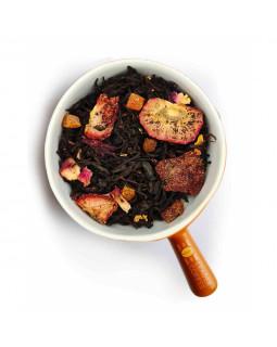 """Чай чорний зі шматочками полуниці """"полуничний джем"""" – два улюблених продукти в одному"""