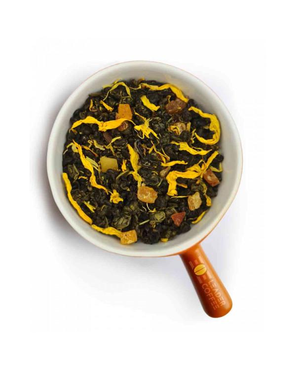 Чай Зелений Равлик зі шматочками дині й цукатами – яскраве поєднання