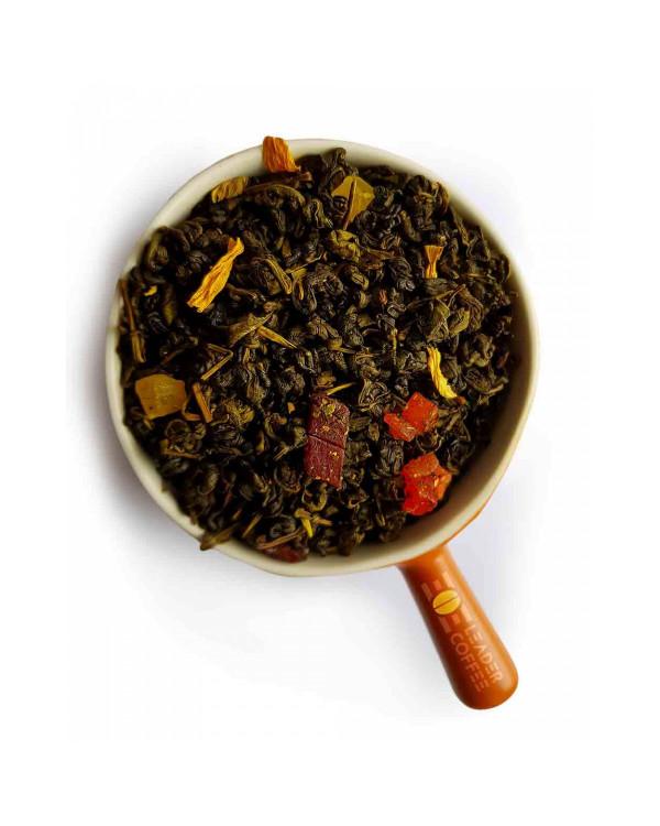 """Чай зеленый Gunpowder """"Ананас со сливками"""" – нежно-сладковатый вкус, много витаминов"""