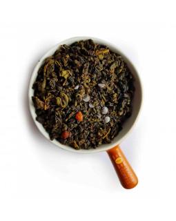 """Чай зеленый с кусочками вишни и шоколада """"Вишня в шоколаде"""" – баланс кислинки и сладости"""