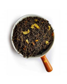 Чай Пуэр с апельсином – освежающий яркий вкус