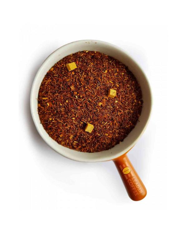 Чай ройбуш з карамеллю: кислинка, згладжена солодкістю