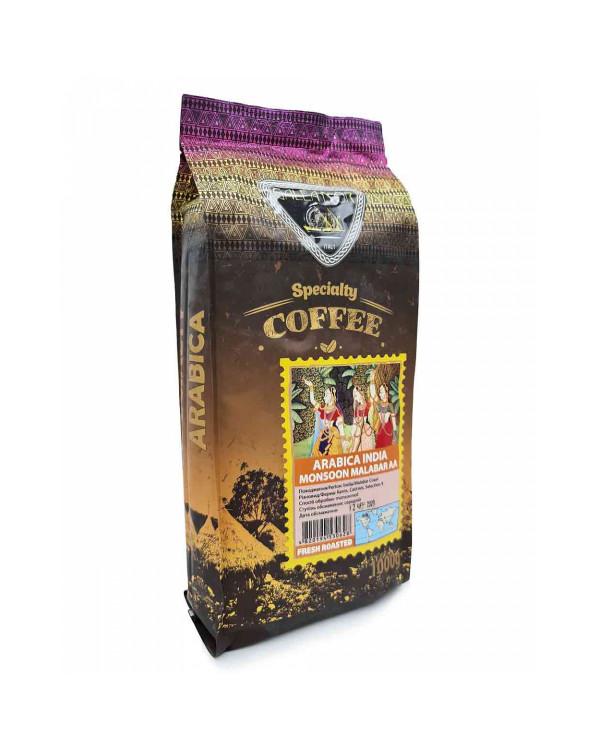 Кава в зернах GALEADOR Arabica India Monsoon Malabar AA, 100/0, 1кг