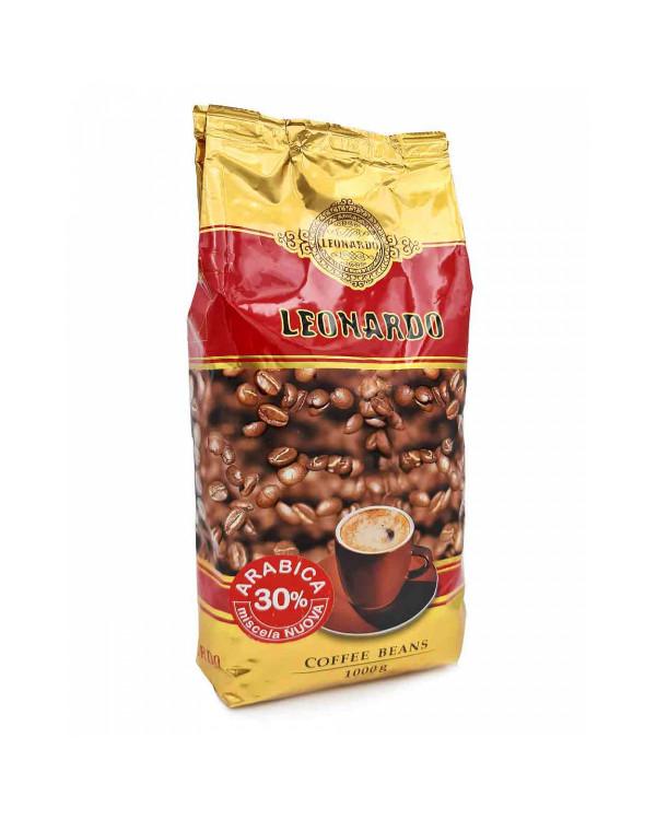Кофе в зернах Leonardo (1 кг): купаж 40/60 с яркой кислинкой