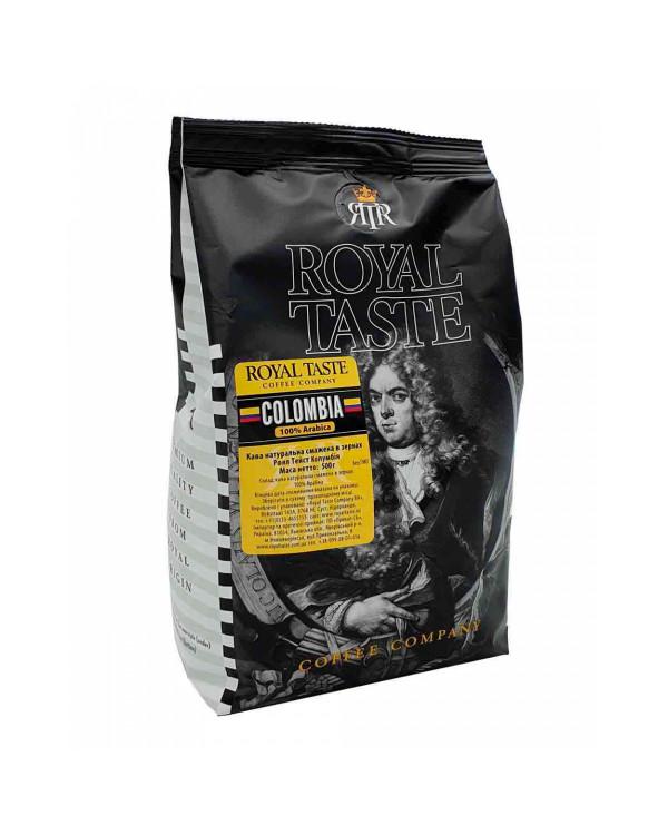 Кофе в зернах ROYAL TASTE COLOMBIA, 100/0, 0.5кг