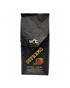 Кофе в зернах UCC SUPREMO (1 кг): купаж 60/40 с ореховым послевкусием